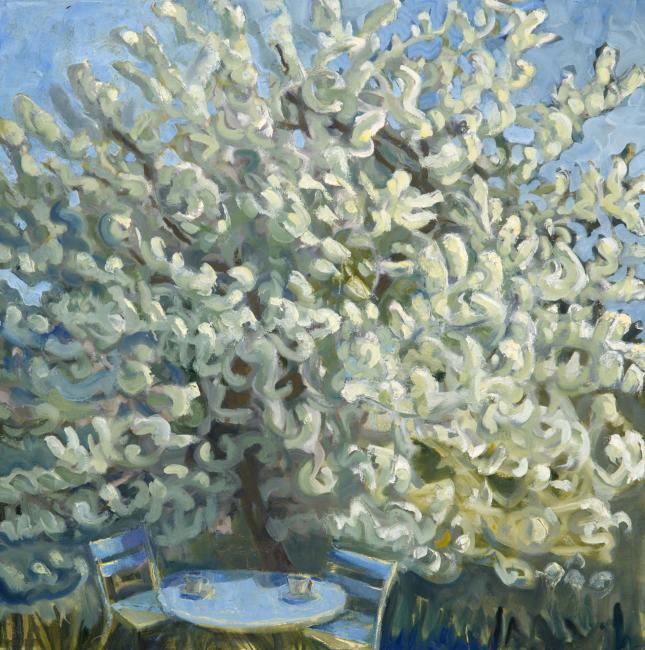 "Spring, Despite All <br /> 30 x 30"" <br /> Oil on Canvas"