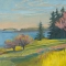 """Spring Field <br /> 24 x 36"""" <br /> Oil on Canvas"""