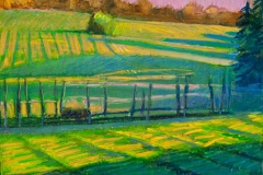 """Frost in Shadows<br/>27 x 19""""<br/>Oil Pastel on Prepared Paper"""