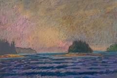 """Morning Before Storm<br/>27 x 19""""<br/>Oil Pastel on Prepared Paper"""