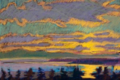 """From Mt Togus<br/>27 x 19""""<br/>Oil Pastel on Prepared Paper"""