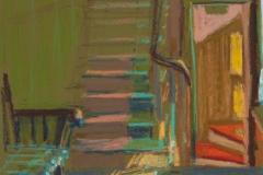 """Islesboro Hall<br/>12x9""""<br/><br/>Oil Pastel on Prepared Paper"""