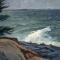 "Wind Break < br> 40 x 30"" <br /> Oil on Canvas"