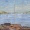 """I Miss The Island Diptych <br /> 36 x 48"""" <br /> Oil on Canvas"""