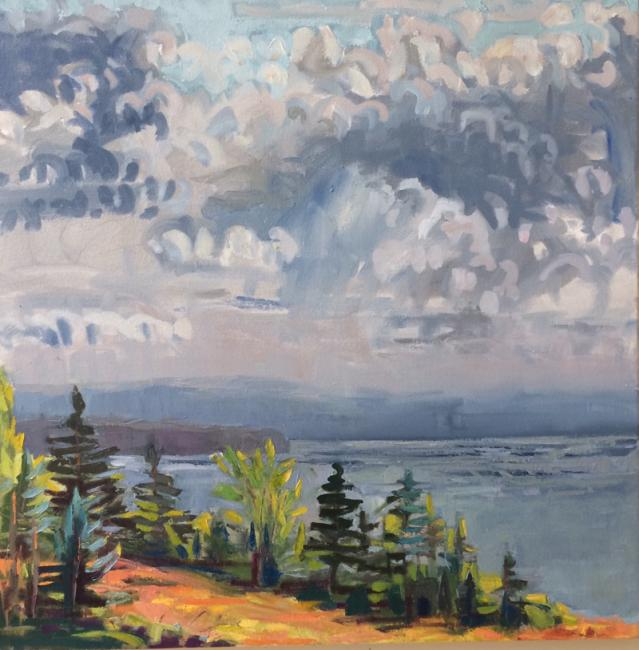 """If It Would Rain (Moss Acre)<br />24 x 24""""<br />Oil on Canvas"""