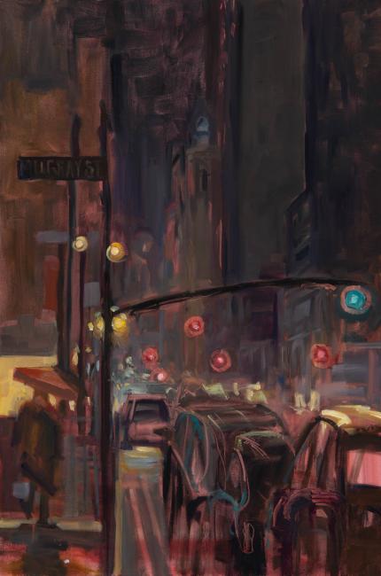"""MurrayStreet I <br /> 36 x 24"""" <br /> Oil on Canvas"""