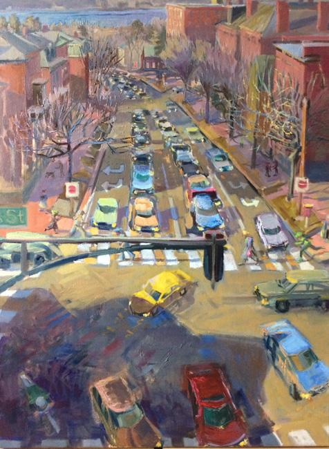 """Intersection<br />40 x 30""""<br />Oil on Canvas"""