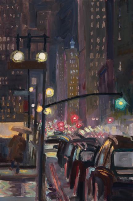 "Murray Street II <br />36 x 24""<br /> Oil on Canvas"