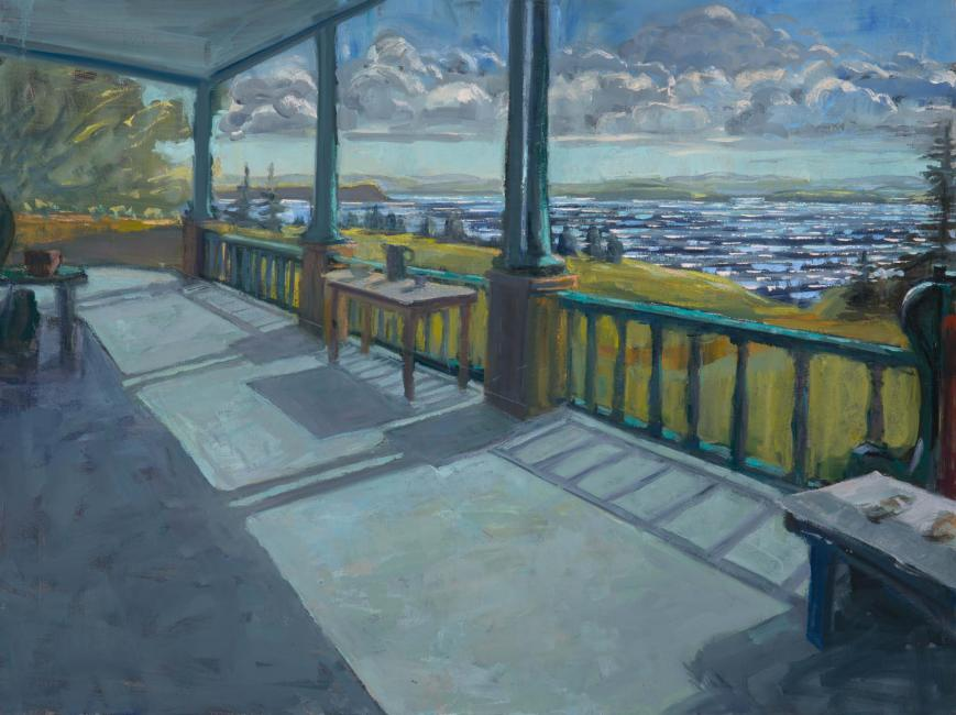 """Porch and Spark <br /> 30 x 40"""" <br /> Oil on Canvas"""