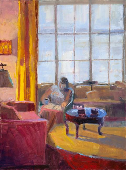 """Window Light and Lamp Light <br /> 24 x 20"""" <br /> Oil on Canvas"""