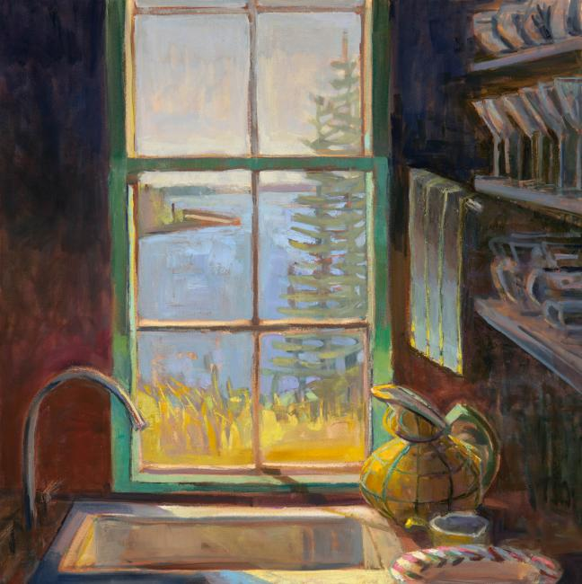 """Pantry Sink <br />30 x 30""""<br />Oil on canvas"""