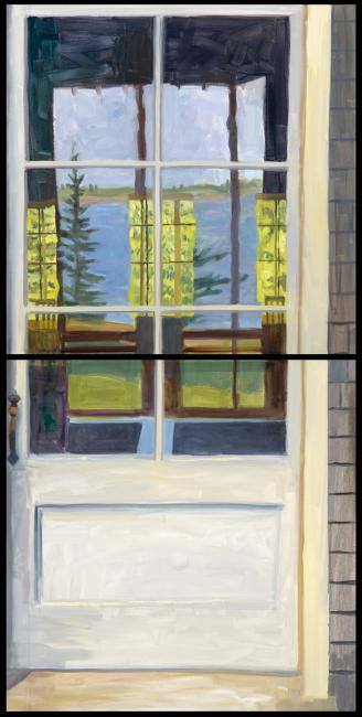 """Through and Behind Diptych <br />  30 x 60"""" <br /> Oil on Canvas"""