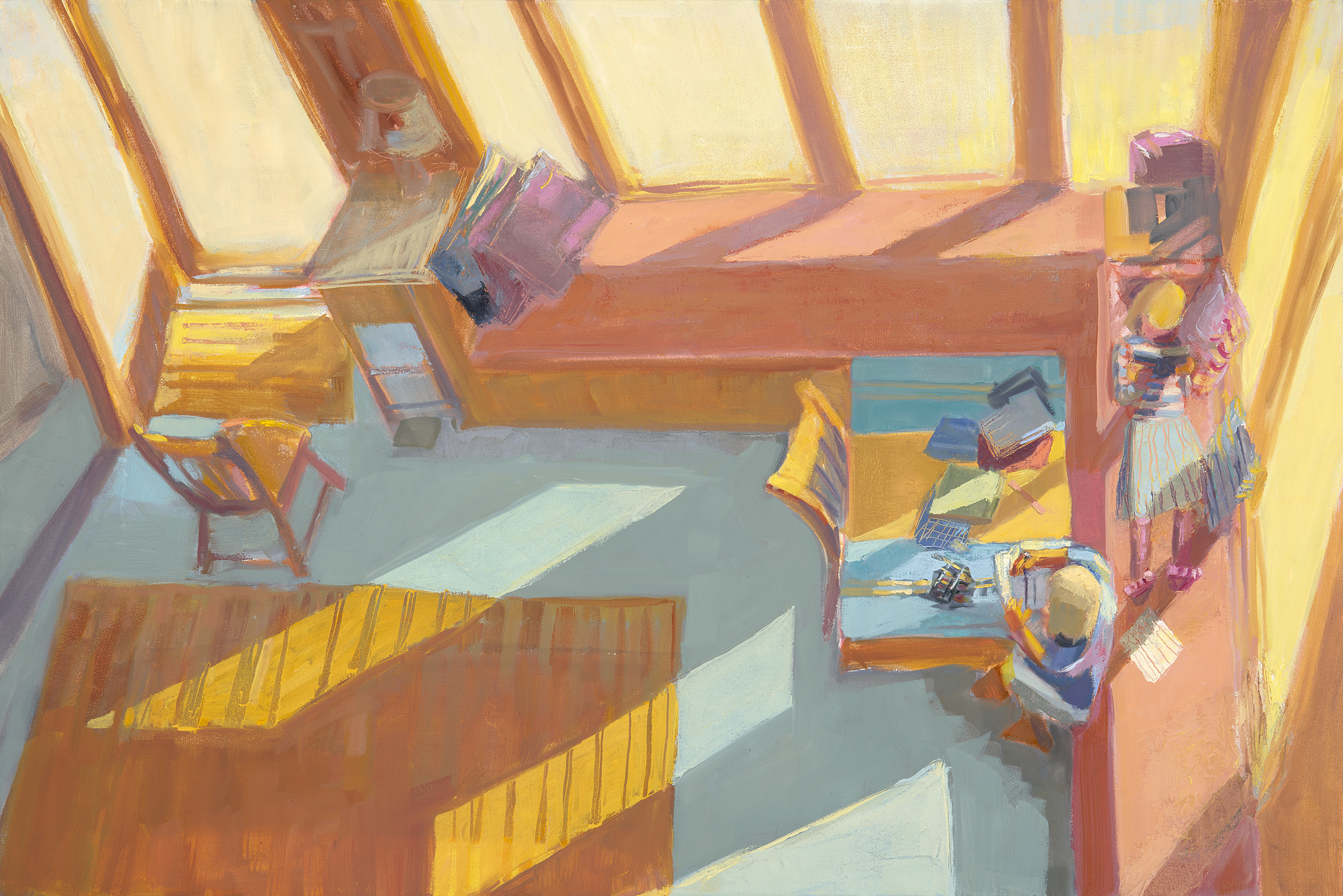 """Reading & Writing, Island Home<br />24 x 36""""<br />Oil on Canvas"""