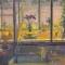"Kitchen, Porch, Channel<br />30 x 30""<br />Oil on canvas"