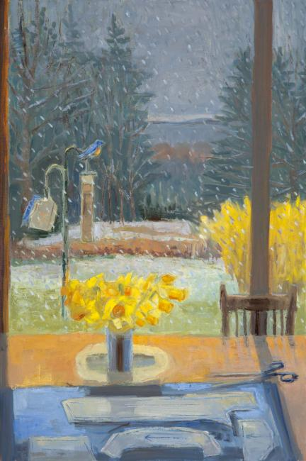 """All This at Once April Snow <br /> 36 x 24"""" <br /> Oil on Canvas"""